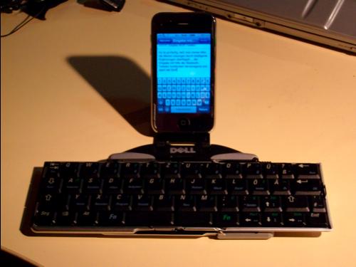 iPhone und Dell-Tastatur